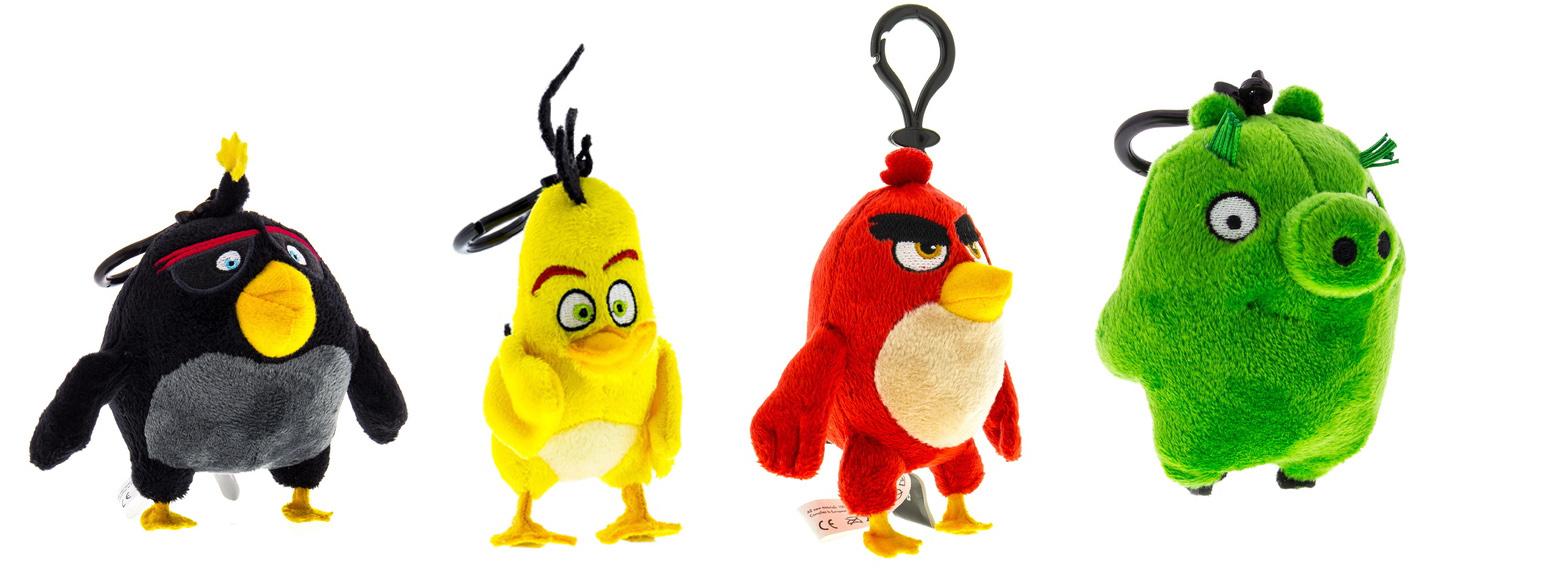Angry Birds plyšová hračka s príveskom, 9cm