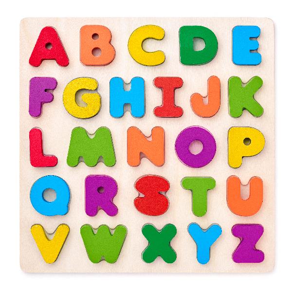 Puzzle ABC- písmena na desce