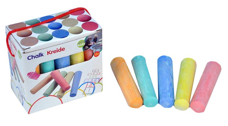 křídy barevné v krabičce, 15 ks
