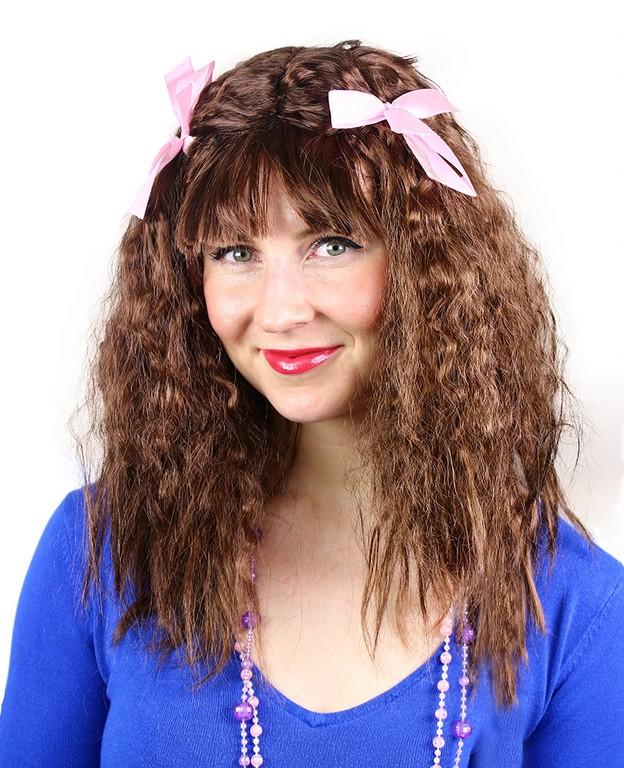 parochňa dlhé vlasy s mašľami pre dospelých