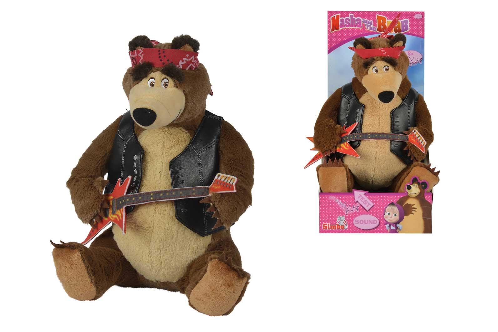 Máša a Medveď Míša rocker hrajúci, 30 cm