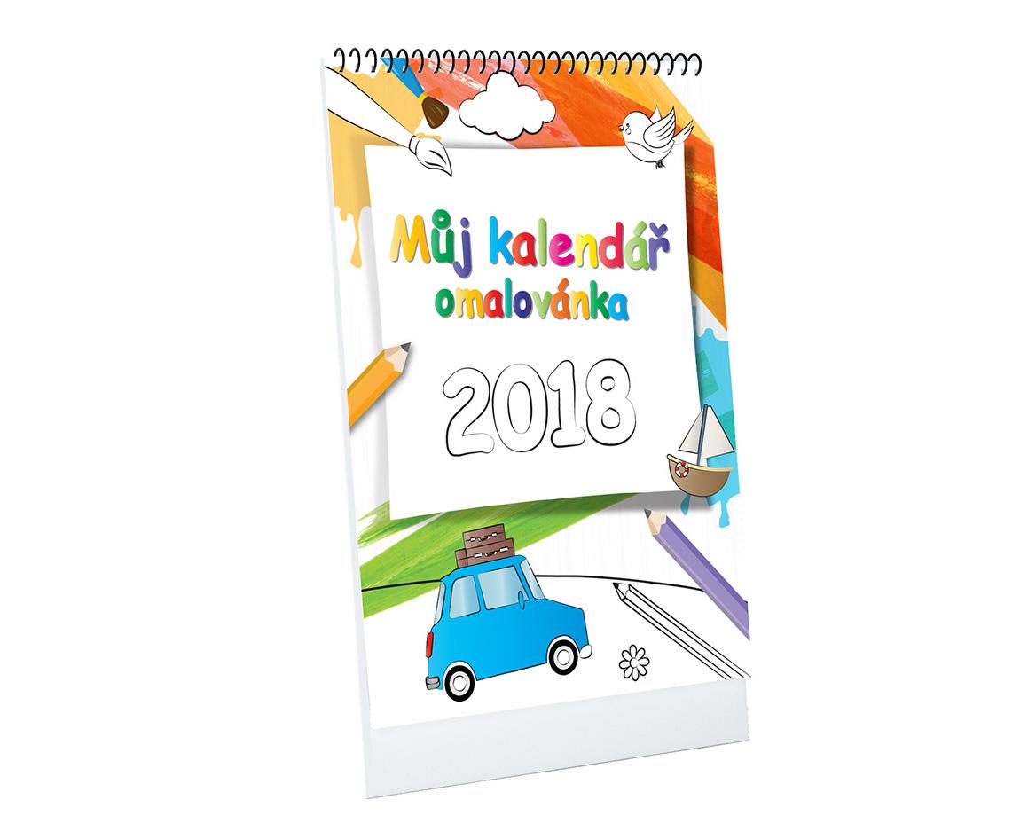 Môj kalendár - omaľovánka A4