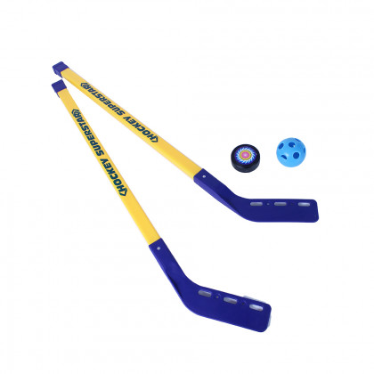 Hokejky s míčkem a pukem, 80 cm