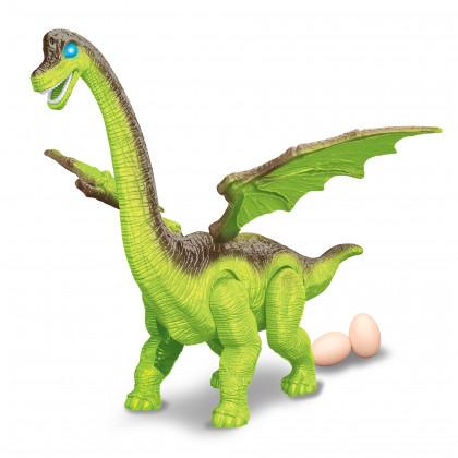 dinosaurus chodí a klade vejce se zvukem 2 barvy