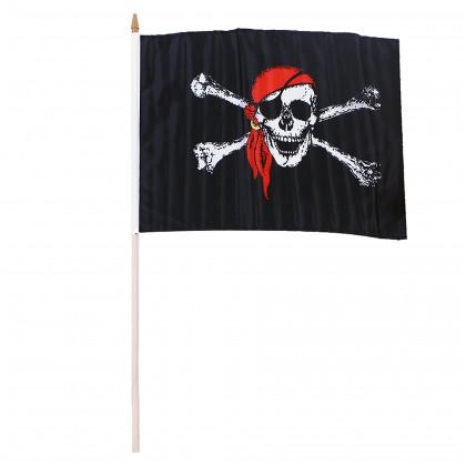 vlajka pirátská, 47x30 cm