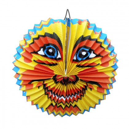 Lampion papírový slunce - kulatý 28 cm