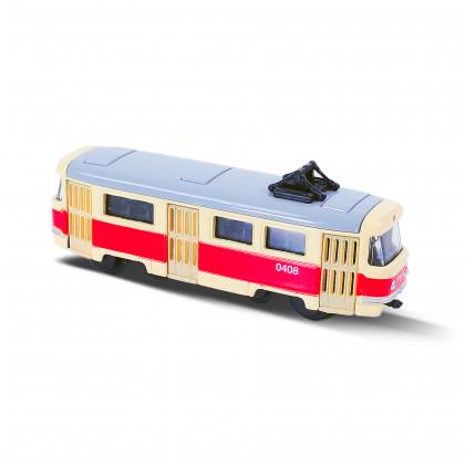 Kovová česká retro tramvaj mini, 8,5 cm