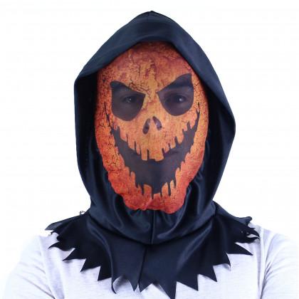 Maska oranžová textilní