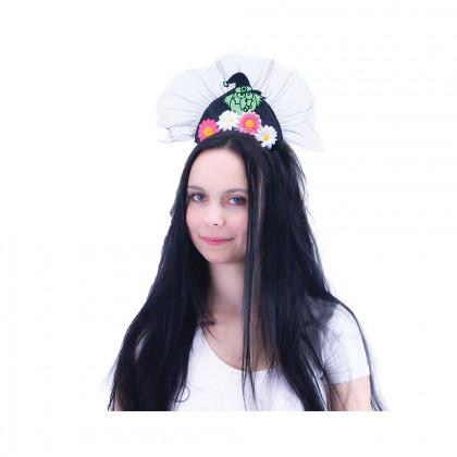Čelenka čarodějnice s kytičkami pro dospělé