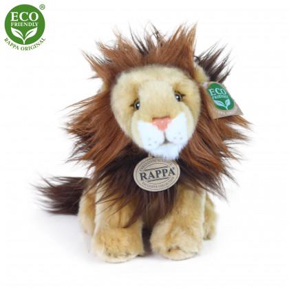 Plyšový lev sedící 18 cm ECO-FRIENDLY