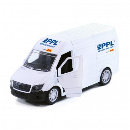 Kovové auto PPL s otevíracími dveřmi 14 cm