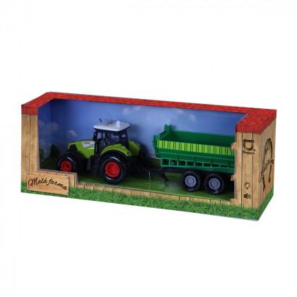 Traktor plastový se zvukem a světlem s vlečkou