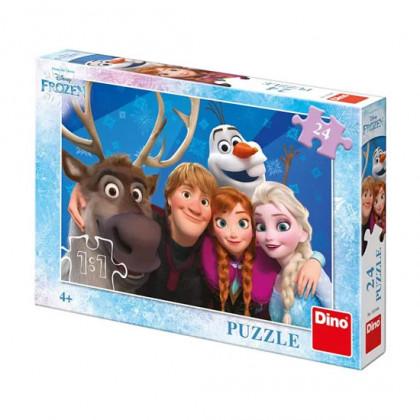 puzzle 24 dílků Selfie FROZEN - Ledové království