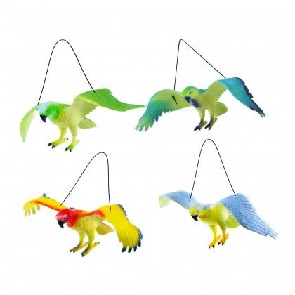 Papoušci 4 druhy 12 x 30 cm