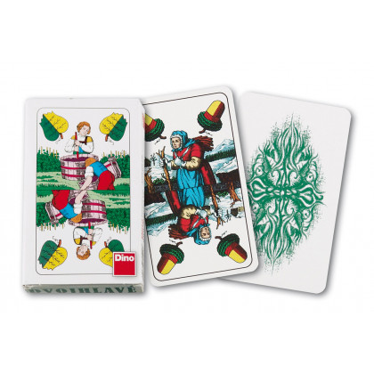 karty mariášové, dvouhlavé