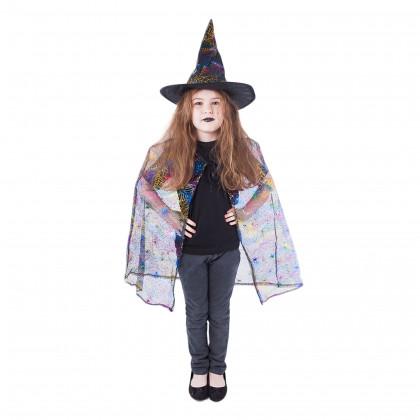 Dětský plášť Čarodějnice s kloboukem