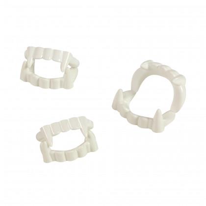 Zuby upíří karnevalové, 3 ks v sáčku