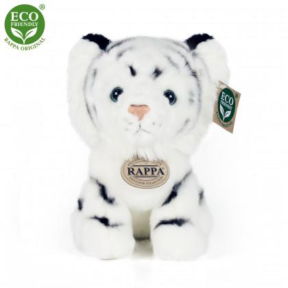 plyšový tygr bílý sedící, 18 cm