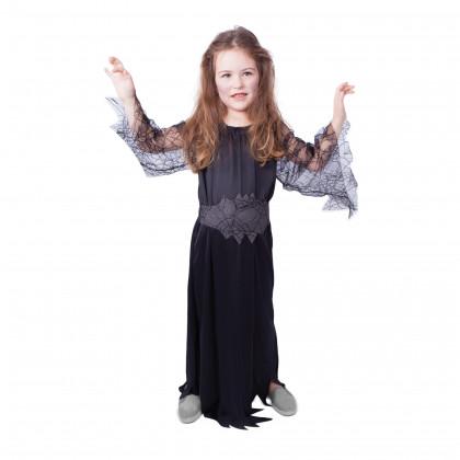 Dětský kostým černá čarodějnice/Halloween (S)