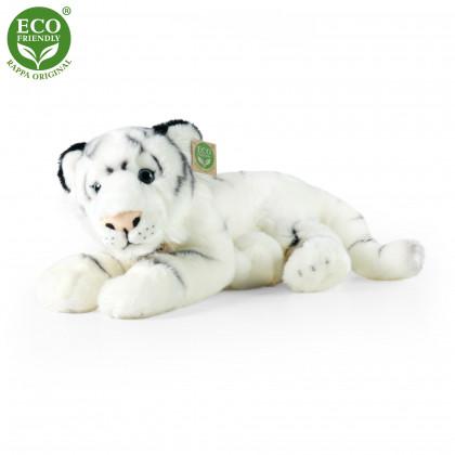 plyšový tygr bílý, ležící, 35 cm