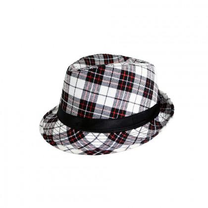 klobouk károvaný pro dospělé