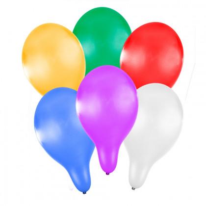 balónek nafukovací 27 cm metalický 6 ks v sáčku