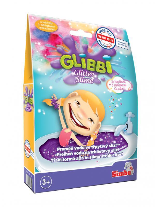 Sliz Glibbi Glitter Slime fialový třpytivý