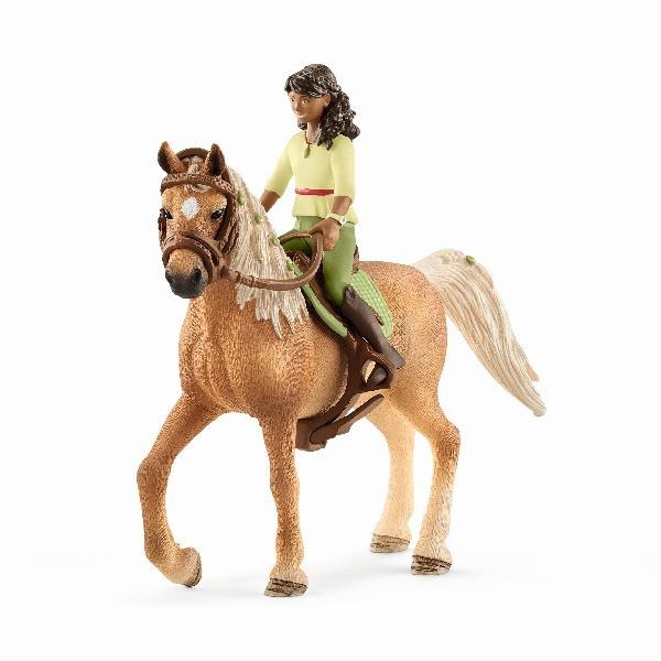 Schleich - Černovláska Sarah a kůň Mystery
