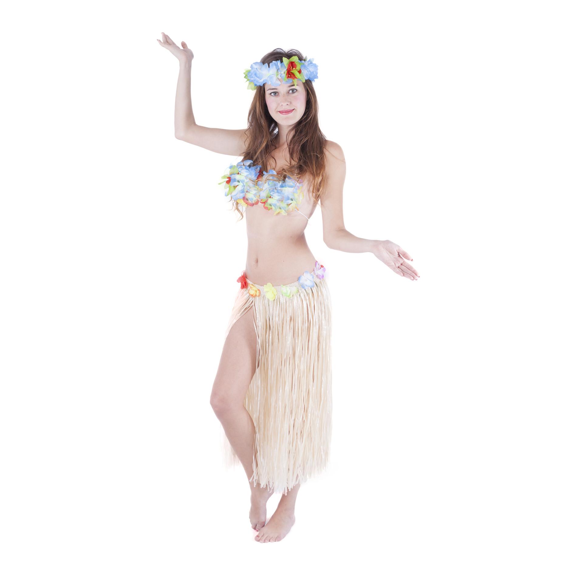 Sukně Hawaii dospělá 72 cm, přírodní