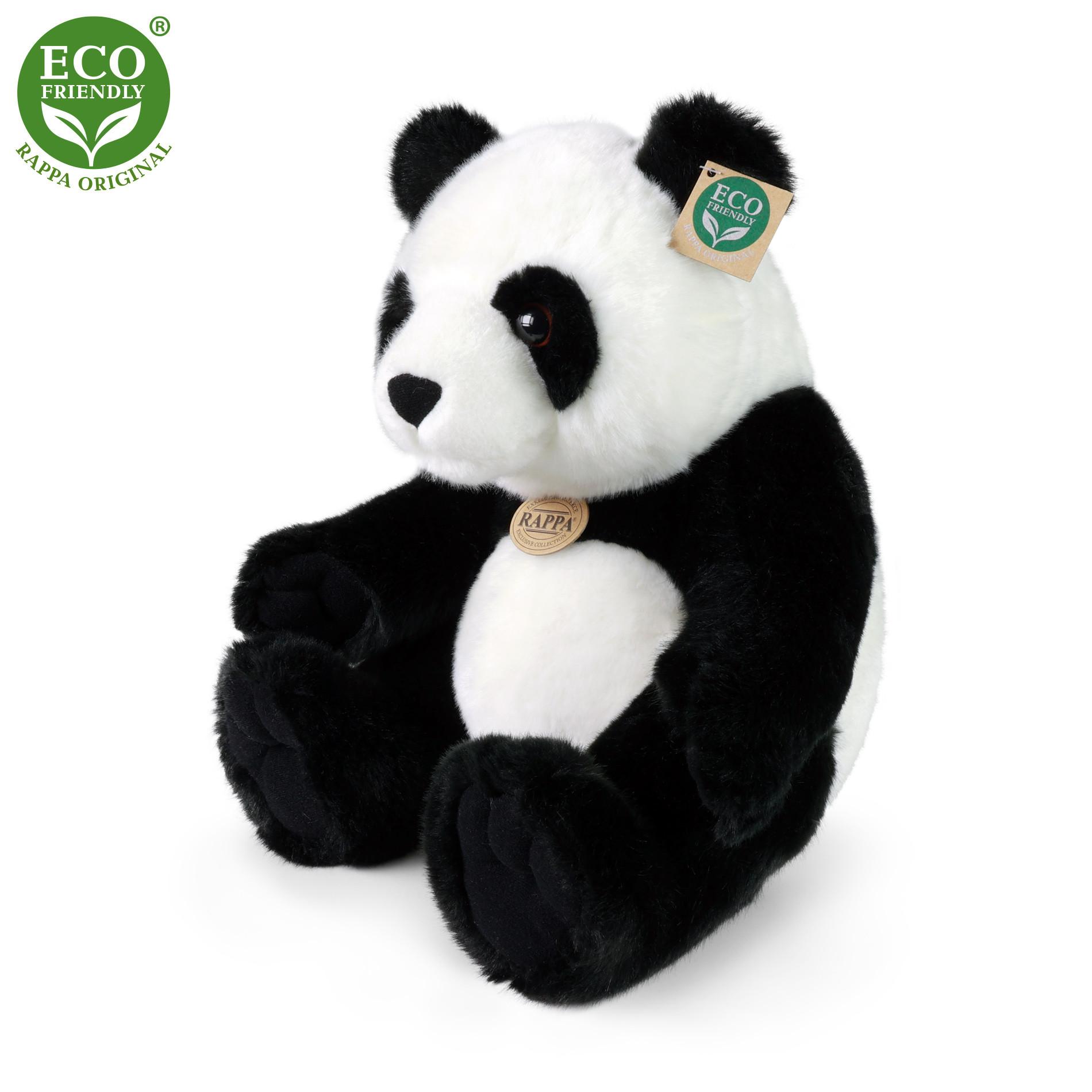 Plyšová panda sedící 31 cm ECO-FRIENDLY
