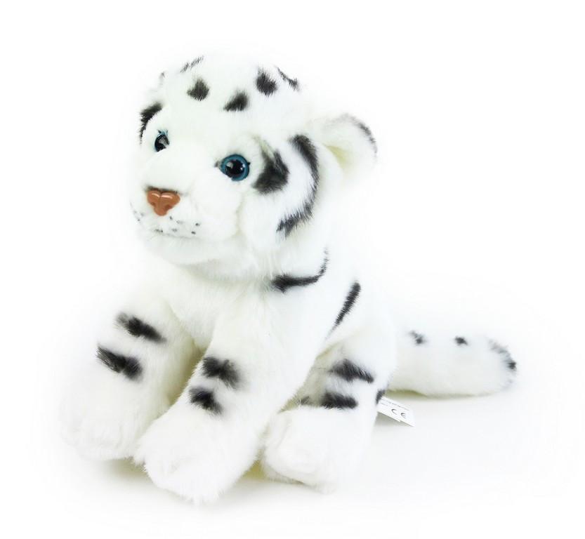plyšový tygr bílý, 20 cm