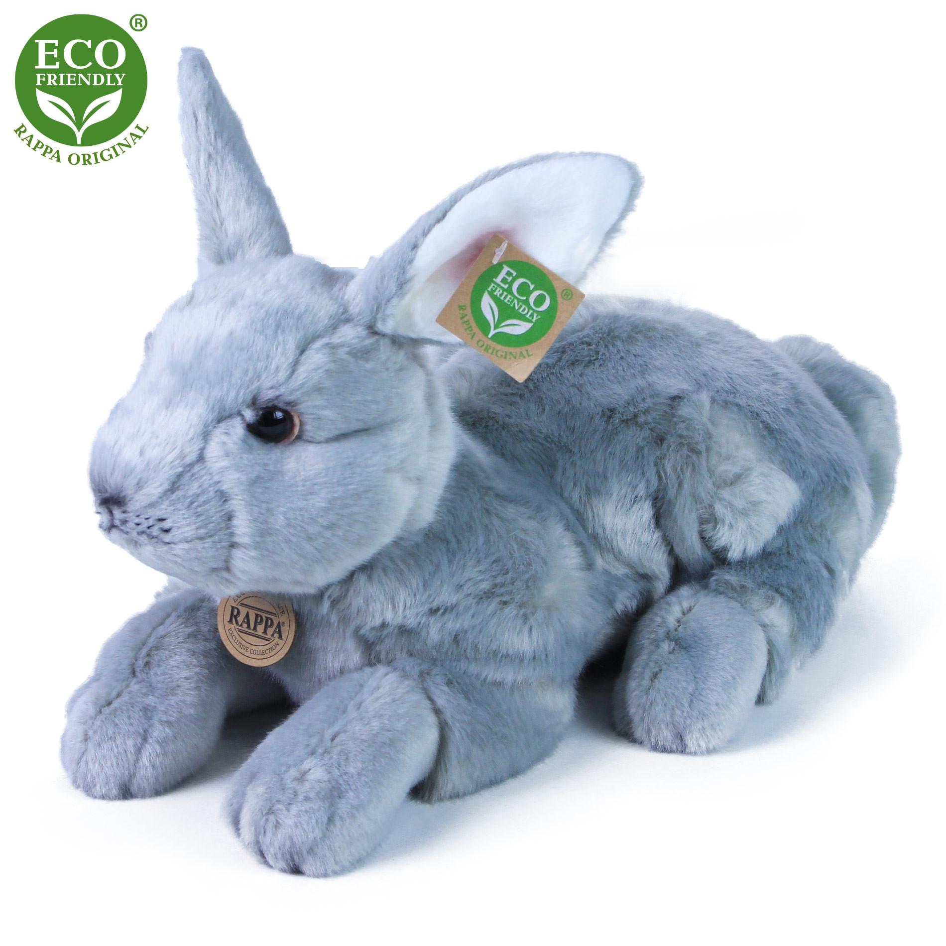 plyšový králík ležící, 33 cm