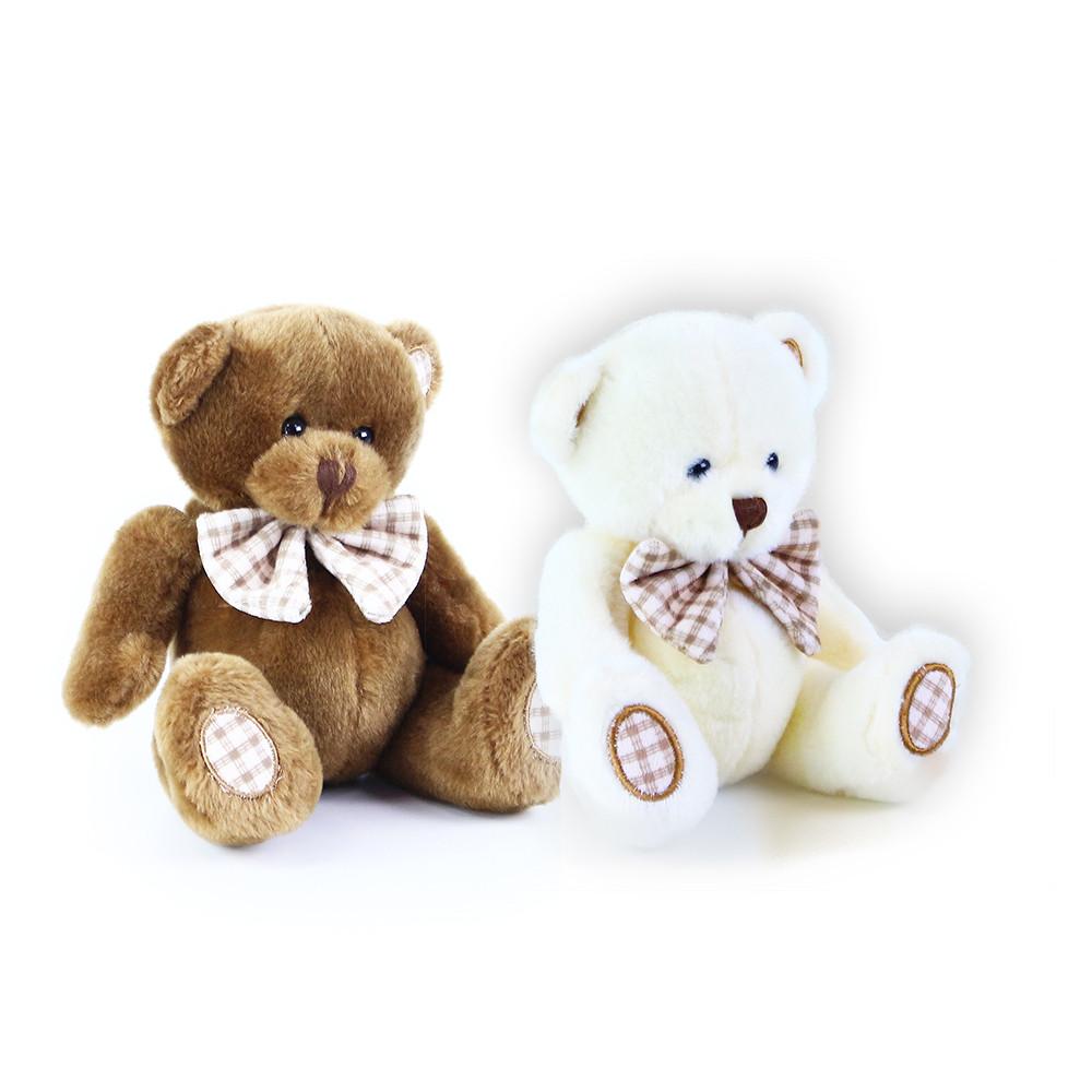 Plyšový medvěd s mašlí, 14 cm
