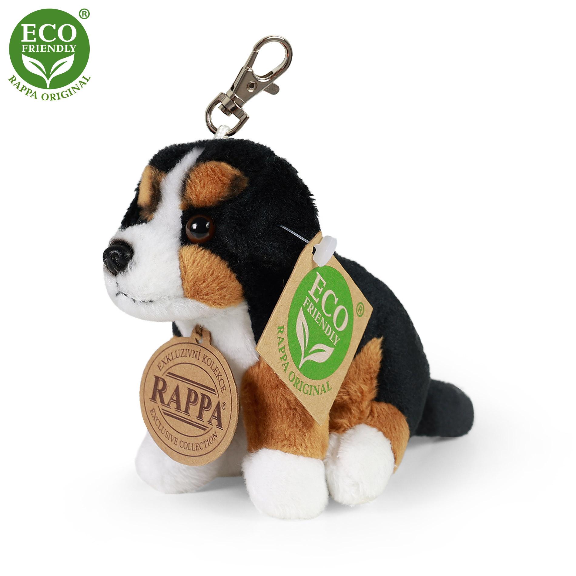 Plyšová klíčenka / přívěšek pes bernský salašnický sedící 9 cm