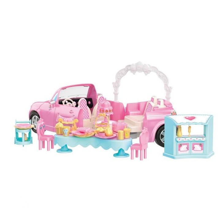 Panenka nevěsta s rozložitelným autem a příslušenstvím