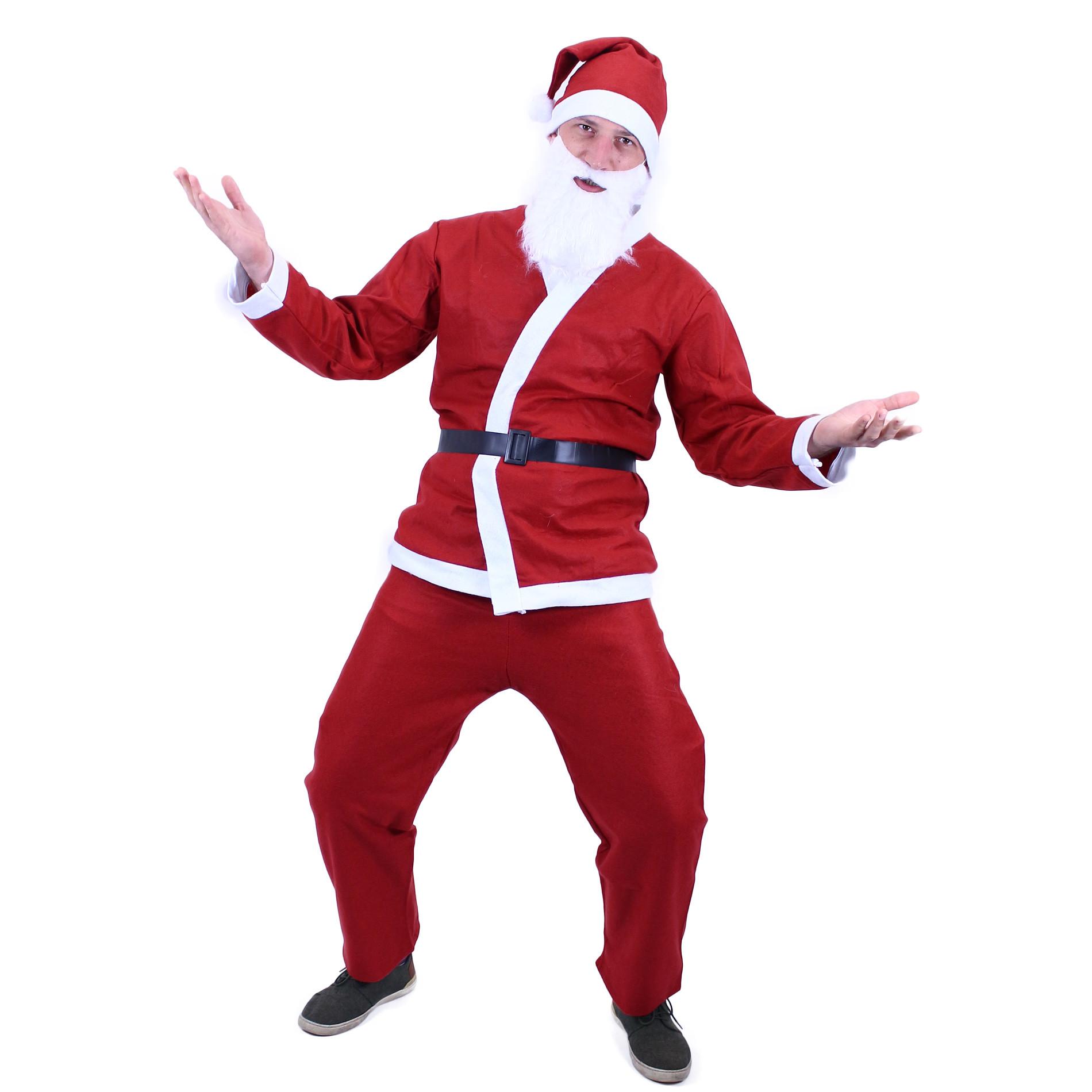 Kostým Santa Claus (bez vousů) dospělý