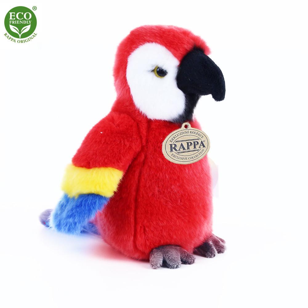 Plyšový papoušek červený 19 cm