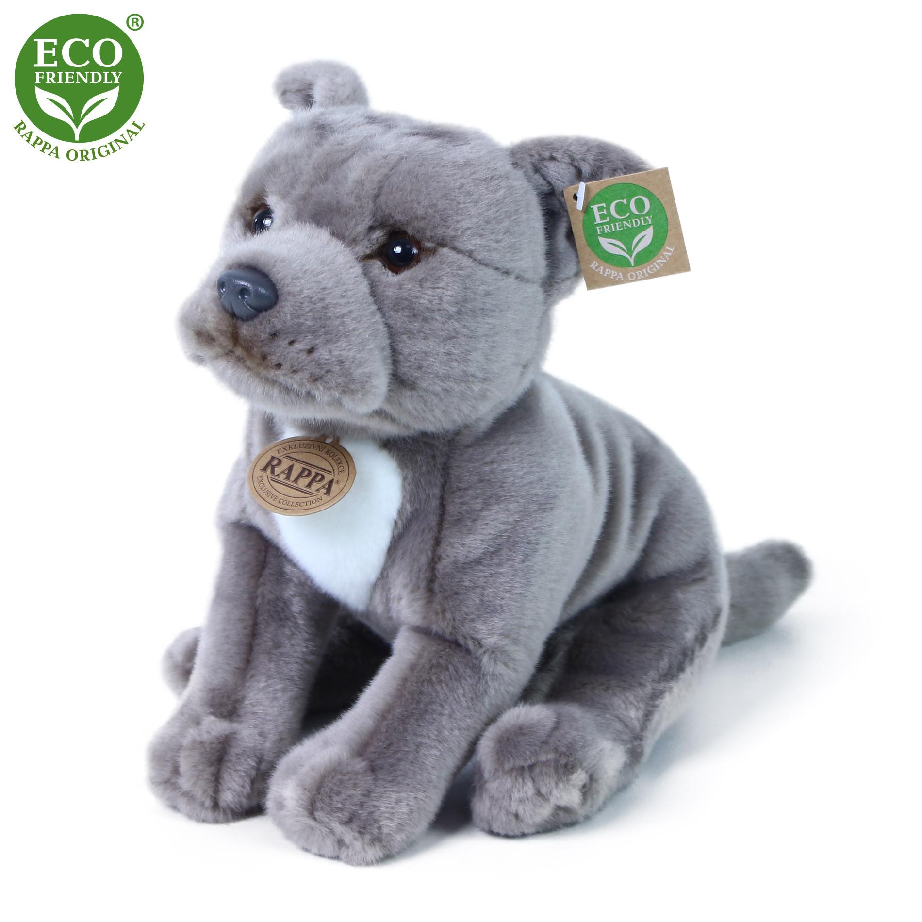 Plyšový pes stafordšírský bulteriér 30cm ECO-FRIENDLY