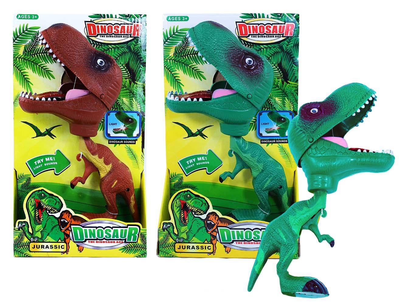 dinosaurus se světlem a zvukem 2 druhy