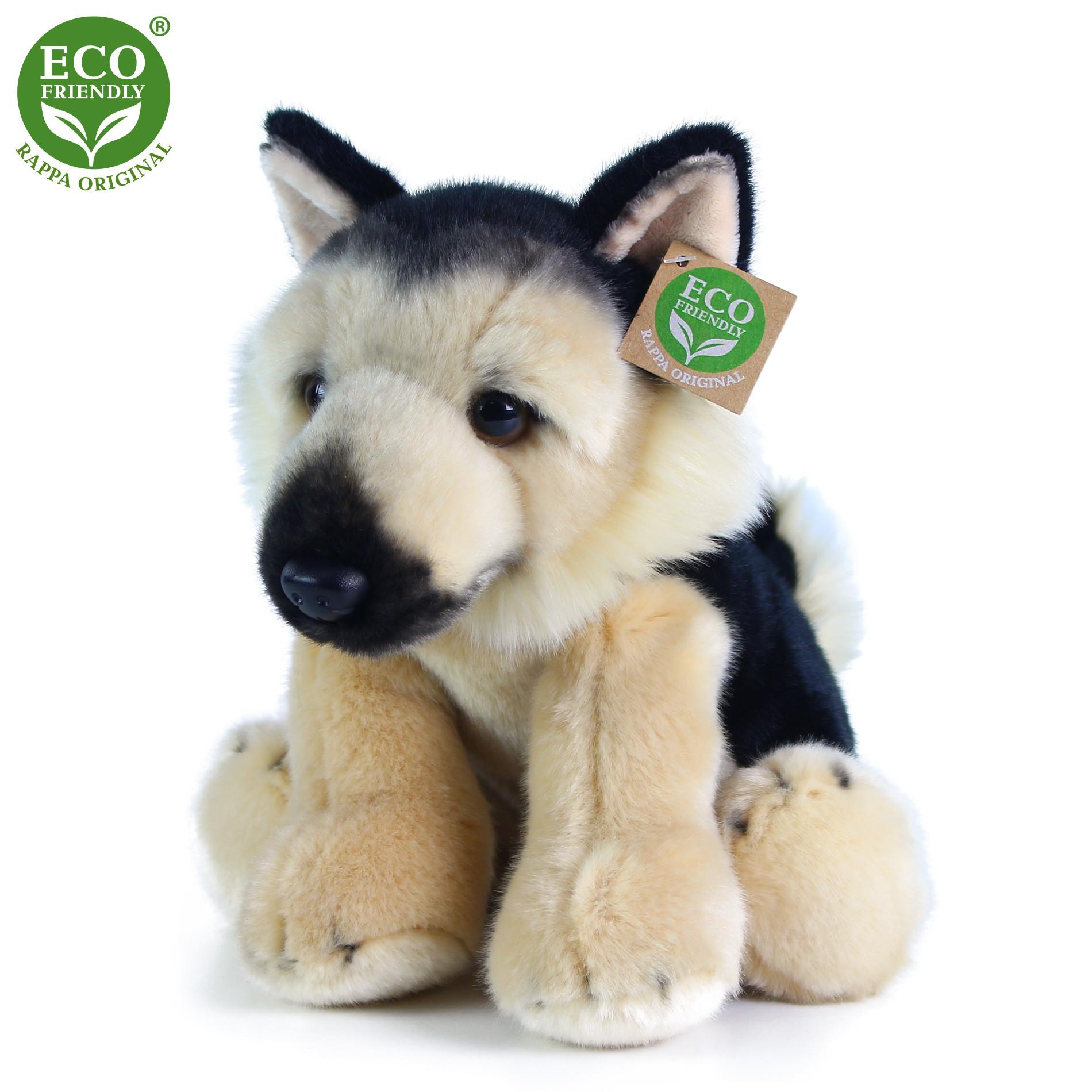 Plyšový pes něměcký ovčák sedící 30 cm ECO-FRIENDLY