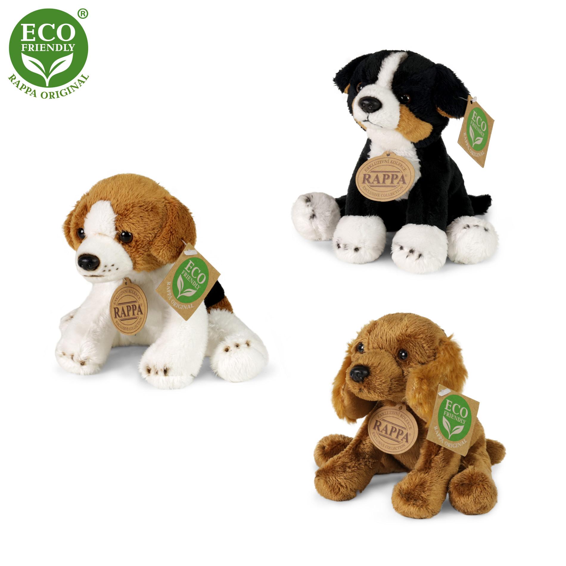 Plyšoví psi sedící 14 cm ECO-FRIENDLY