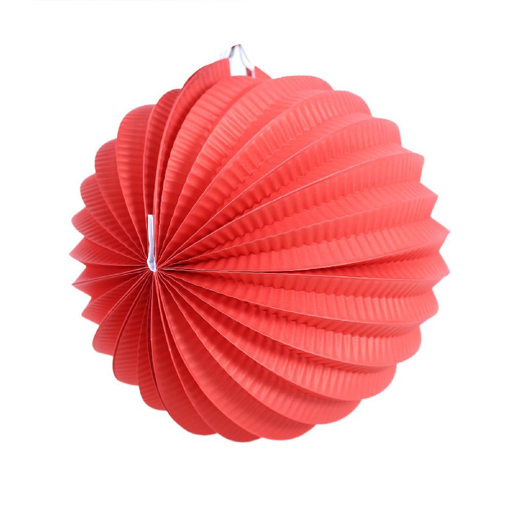 Lampion koule červený 20 cm