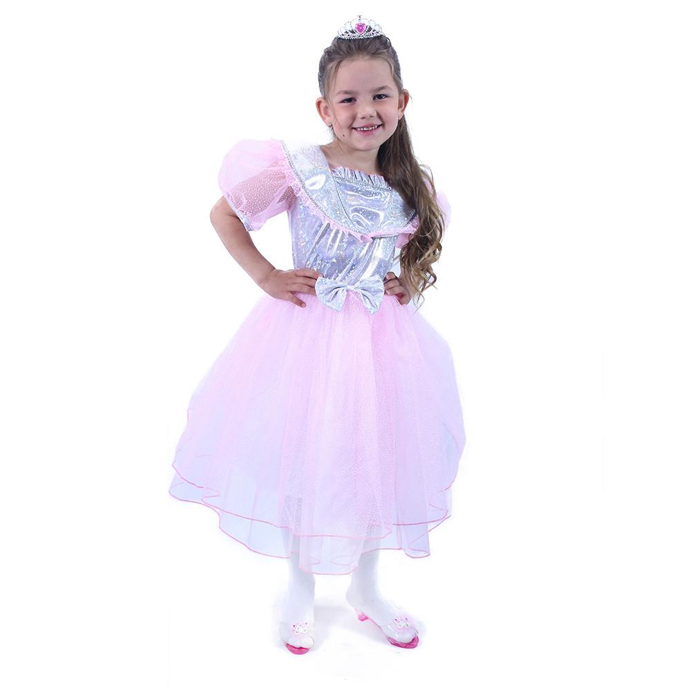 Dětský kostým princezna růžová s mašlí (M)