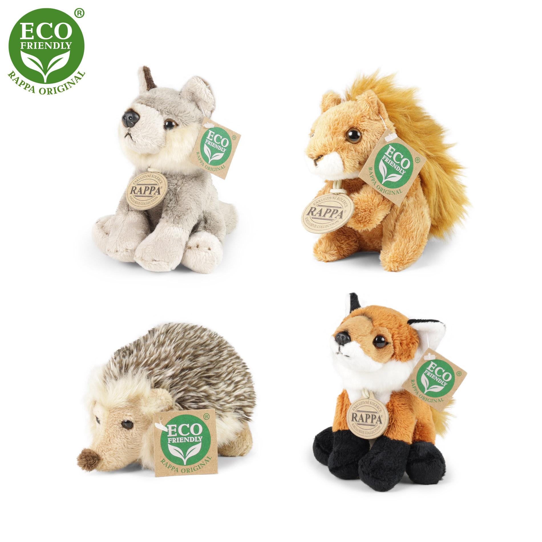 Plyšová zvířata lesní sedící 12 - 15 cm ECO-FRIENDLY