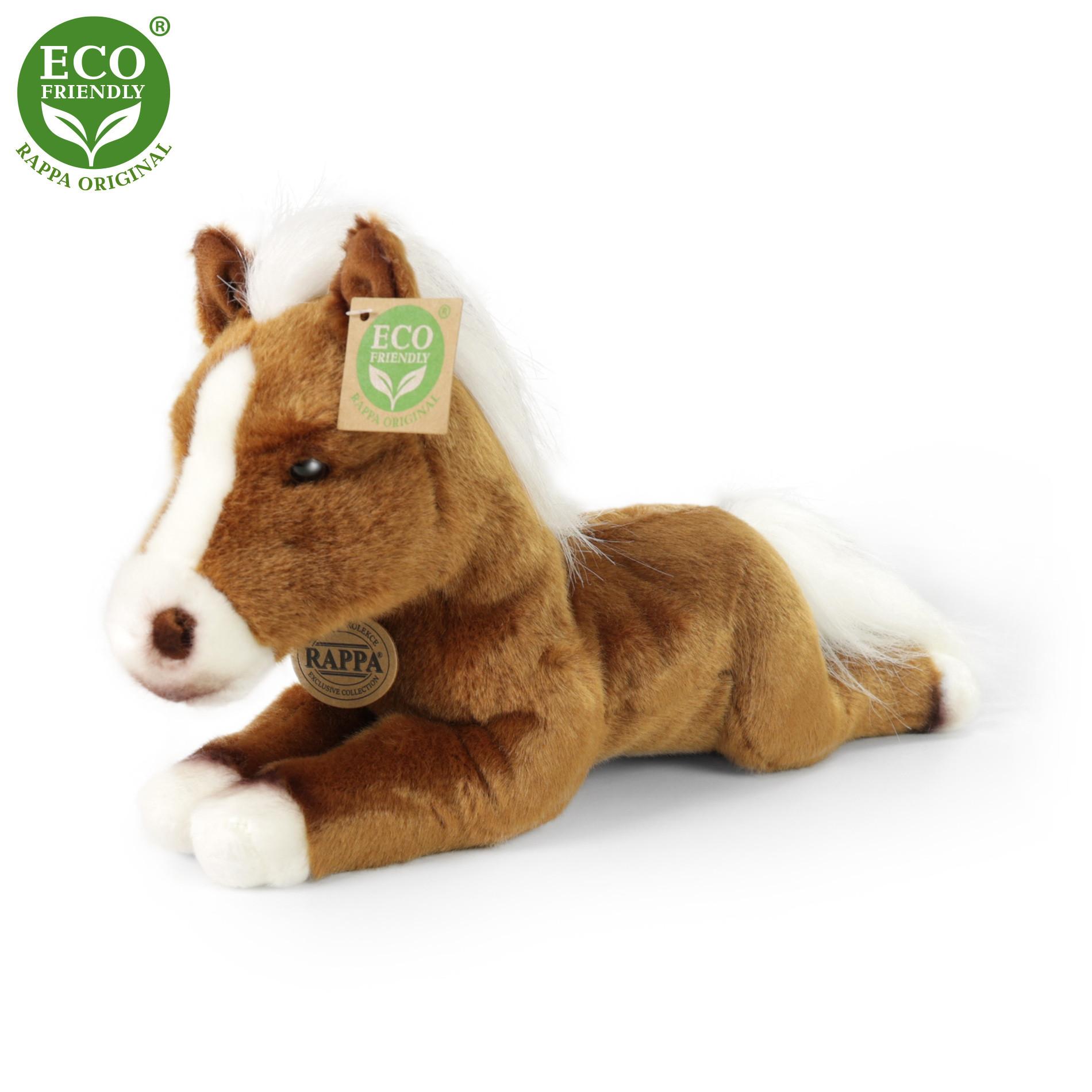 Plyšový kůň ležící 25 cm ECO-FRIENDLY