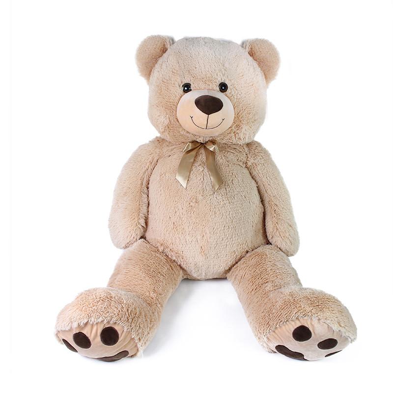 Velký plyšový medvěd Luďa 120 cm béžový s visačkou