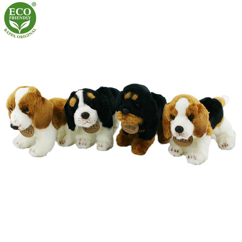 plyšový pes stojící, 4 druhy, 16 cm