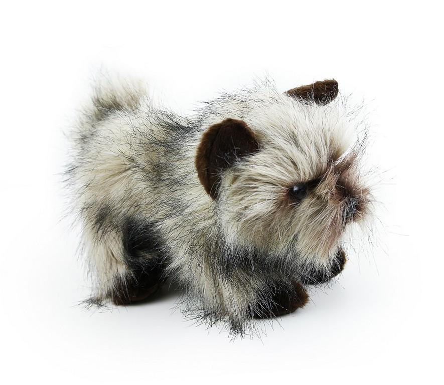 Plyšový pes kernteriér sedící 28 cm