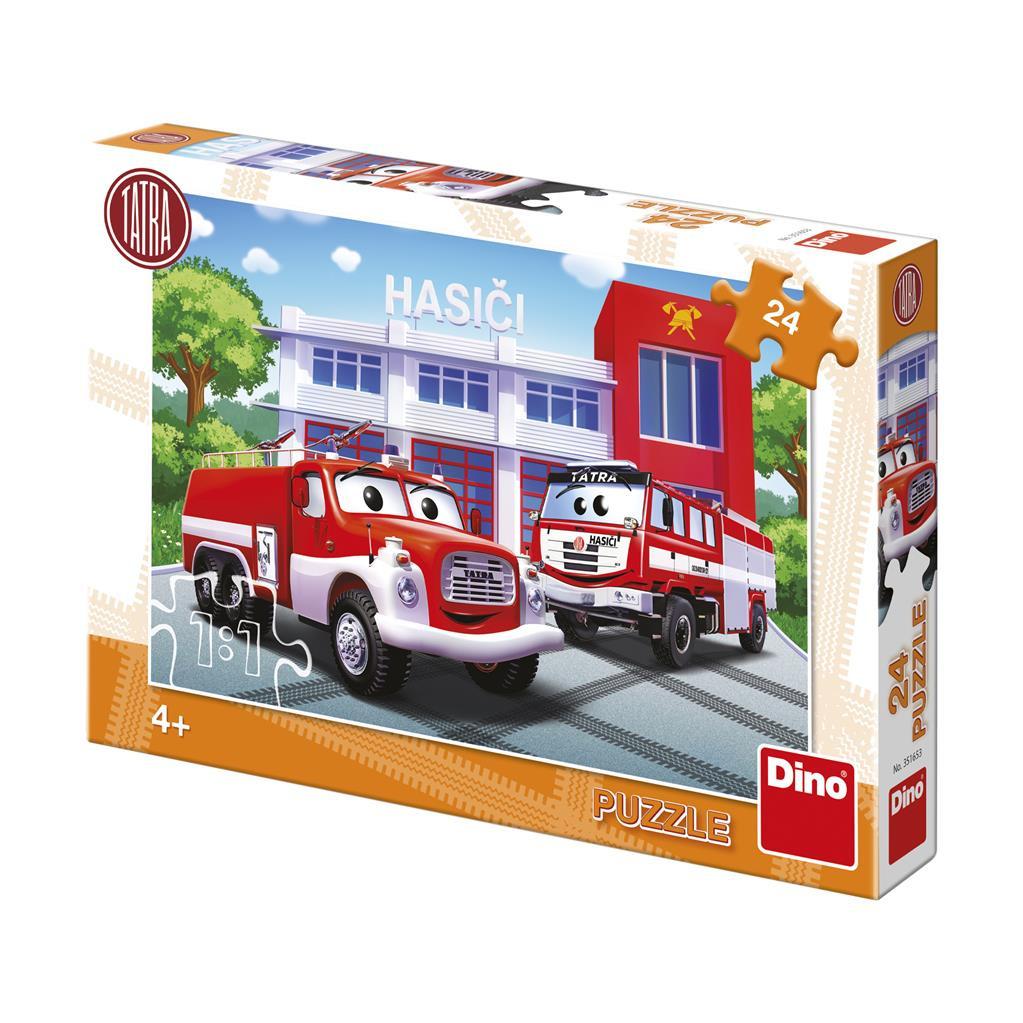 Puzzle 24 dílků Tatra hasiči