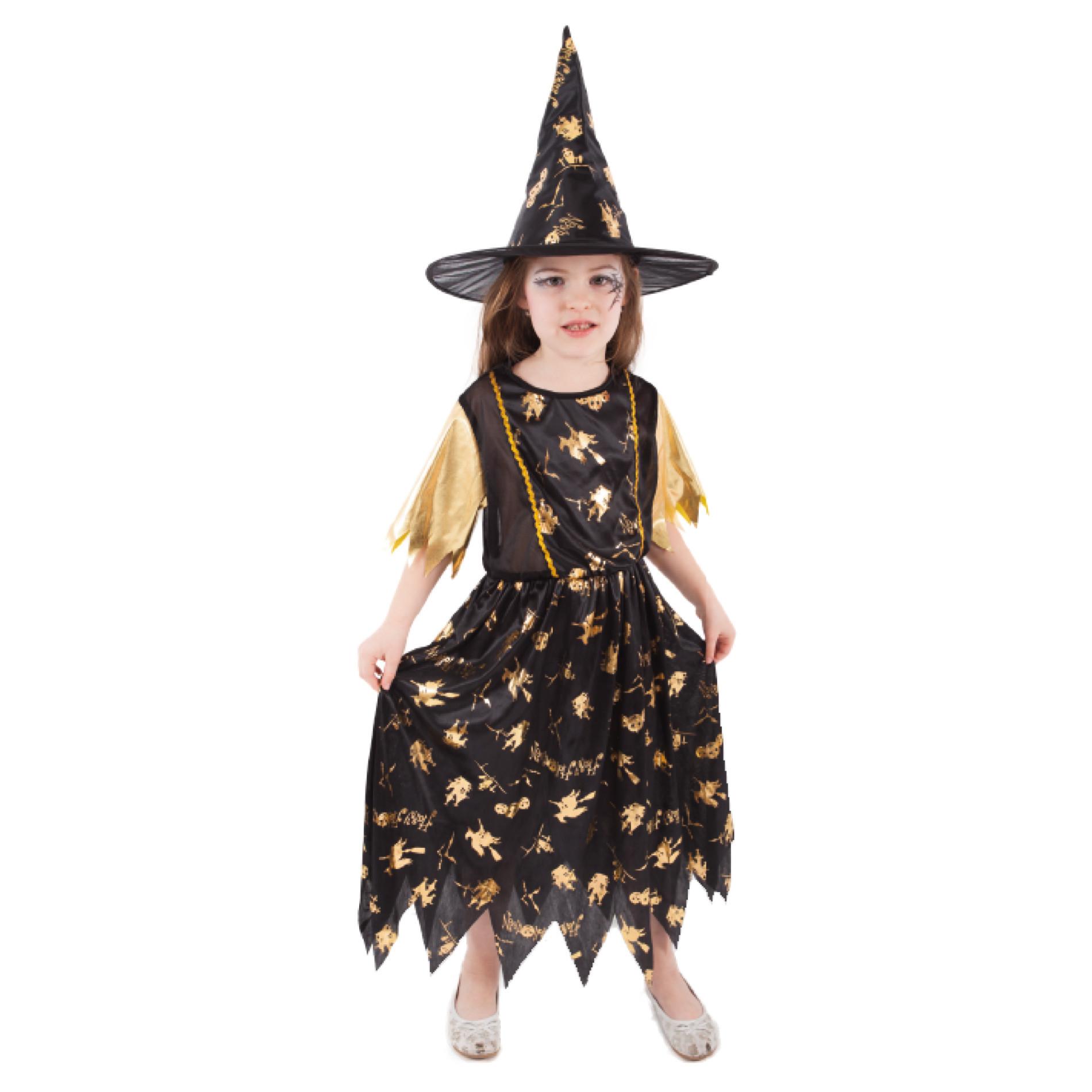 Dětský kostým čarodějnice/Halloween (S)